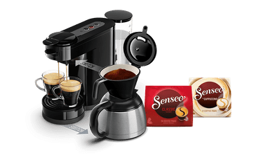 Senseo Switch, 2-in-1: Pad- und Filterkaffeemaschine